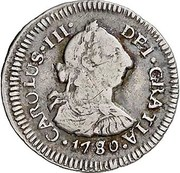 ½ Real (Carlos III) – avers