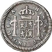 ½ Real (Carlos III) – revers