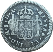 1/2 Real Carlos IV, bust of Carlos III (Colonial Milled Coinage) – revers