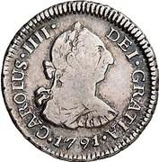 ½ Real - Carlos IIII (bust of Carlos III) – avers