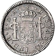 ½ Real - Carlos IIII (bust of Carlos III) – revers