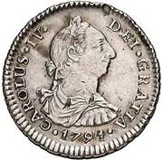 1 Real - Carlos IV (bust of Carlos III) – avers