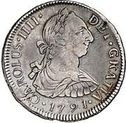 2 Reales - Carlos IIII (bust of Carlos III) – avers