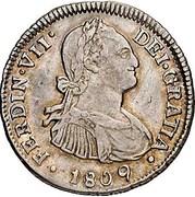 2 Reales - Fernando VII (bust of Carlos IV) – avers