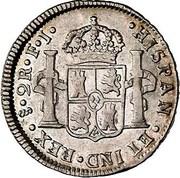 2 Reales - Fernando VII (bust of Carlos IV) – revers