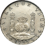8 Reales - Fernando VI (Colonial Milled Coinage) – revers