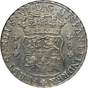 8 Reales - Fernando VI (Colonial Milled Coinage) – avers