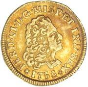 1 Escudo - Fernando VI – avers