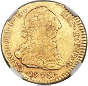 2 Escudos - Carlos III (bust of Carlos III) – avers
