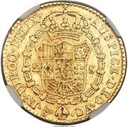 2 Escudos - Carlos III (bust of Carlos III) – revers