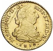 2 Escudos - Fernando VII (bust of Carlos III) – avers