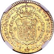 2 Escudos - Carlos IIII (bust of Carlos III) – revers