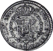 2 Escudos - Carlos IV (bust of Carlos III) – revers