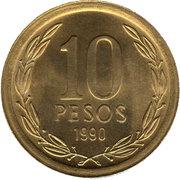 10 pesos -  revers