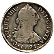 4 Reales - Carlos IIII (bust of Carlos III) – avers