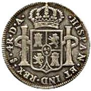 4 Reales - Carlos IIII (bust of Carlos III) – revers