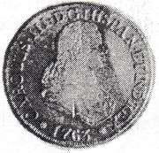4 Escudos - Carlos III (Bust of Fernando VI) – avers