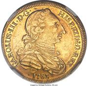 4 Escudos - Carlos III (bust of Carlos III, rat nose type) – avers