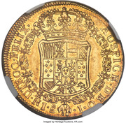 4 Escudos - Carlos III (bust of Carlos III, rat nose type) – revers