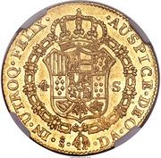 4 Escudos - Carlos III (bust of Carlos III, regular type) – revers