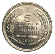 5 pesos / ½ Condor -  revers