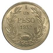 1 peso – revers