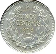 5 centavos (argent 400‰) – revers