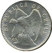 5 centavos (argent 450‰) – avers