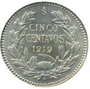 5 centavos (argent 450‰) – revers