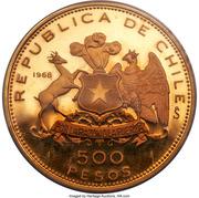 500 pesos (Anniversaire du drapeau national) – avers
