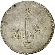 8 Reales (Countermarked coinage) – avers