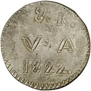 8 Reales (Countermarked coinage) – revers