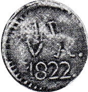 1 Real (Countermarked coinage) – revers