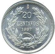20 centavos – revers