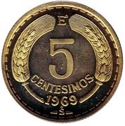 5 centesimos -  revers