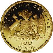 100 pesos (Anniversaire de la monnaie nationale) – revers
