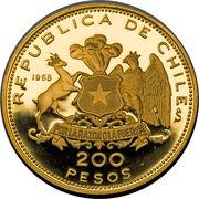 200 pesos (Traversée des Andes) – avers