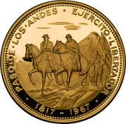 200 pesos (Traversée des Andes) – revers