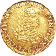 1 Escudo - Carlos III – avers