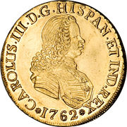 8 Escudos - Carlos III – avers