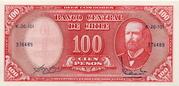 10 Centesimos (Overprint on 100 Pesos) – avers