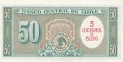 5 Centesimos (Overprint on 50 Pesos) – revers