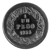 1 peso (Essai) – revers
