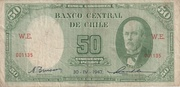 50 Pesos 5 Condores -  avers