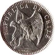 5 centavos (argent 500‰) – avers