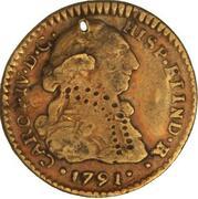 1 Escudo - Carlos IV (bust of Carlos III) – avers
