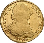 4 Escudos - Carlos IV (bust of Carlos III) – avers