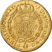4 Escudos - Carlos IV (bust of Carlos III) – revers