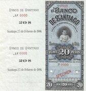 20 Pesos - Banco de Santiago – avers