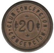 20 Centavos - Club Conceptcion – avers